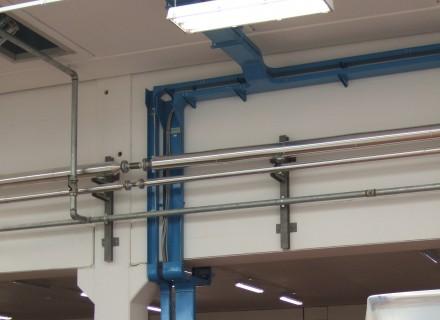 Lavanderia Industriale So.Ge.Si. - Ponsacco (PI) - Particolare canalizzazioni