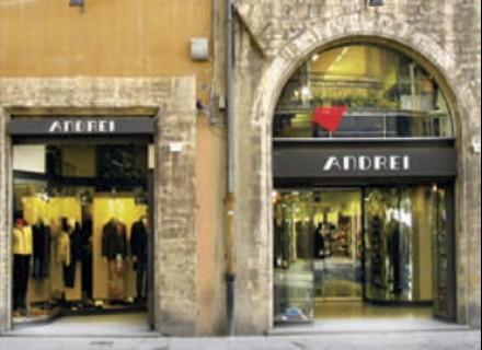 Negozio ANDREI - Corso Vannucci - Perugia - Restyling anno 1997